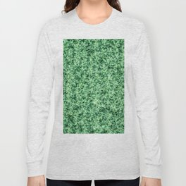 Nature print, Green rapeseed agriculture field Top View. Rapeseed. Long Sleeve T-shirt
