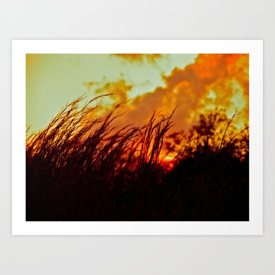 Sunset Brings the Wind Art Print