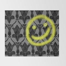 Sherlock smiling wall Throw Blanket
