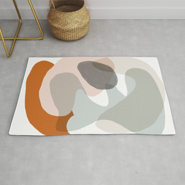 Shapes And Layers No 15 Soft Neutral Colors Rug By Sewzinski