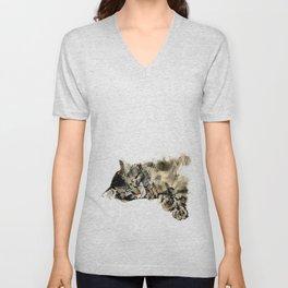 Cat Nap Unisex V-Neck
