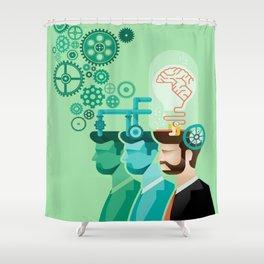 Brainstorming Shower Curtain