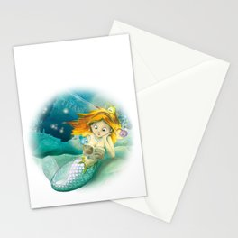 How mermaids get new books Stationery Cards