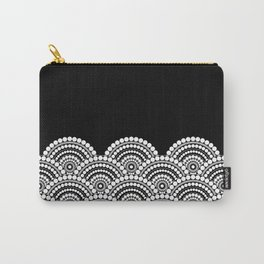 BLACK AND WHITE (abstract pattern) Carry-All Pouch