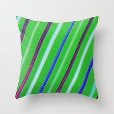 Linear Green Throw Pillow