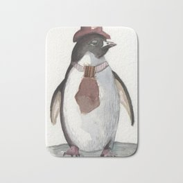 Sarcatic penguin Bath Mat
