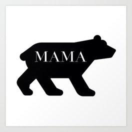 Mama Bear in Black Art Print