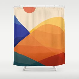 Meditative Mountains Shower Curtain