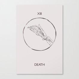 13 - The Death Tarot Card Canvas Print