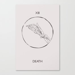 13 - The Death Tarot Card Canvas Print