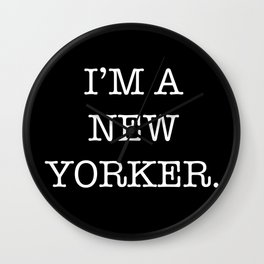 NEW YORKER Wall Clock