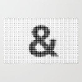 Halftone Ampersand Sans Serif Rug