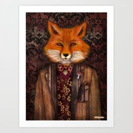 Portrait of the mysterious Lord Fox Art Print