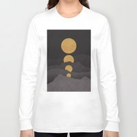 landscape Long Sleeve T-shirts featuring Rise of the golden moon by Picomodi