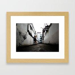 Alleyway Love Framed Art Print