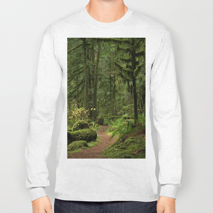 The Deep Woodland  Path... Long Sleeve T-shirt