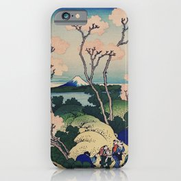 Sakura blossom with Mount Fuji in the background, Japanese fine art iPhone Case