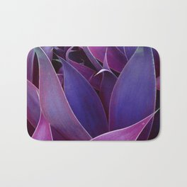 Leaves Abstract Magenta Pink Purple Bath Mat