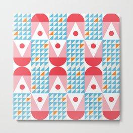 Kaiser Modern Geometric Pattern Metal Print