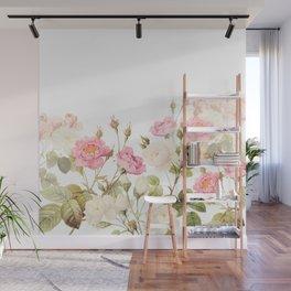 Vintage & Shabby Chic - Sepia Roses Flower Garden Wall Mural