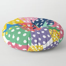 pineapple mix Floor Pillow