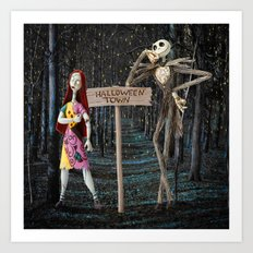 Halloween Town | Jack | Sally | Christmas | Nightmare Art Print