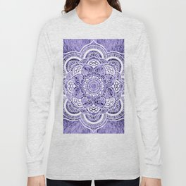 Mandala Lavender Colorburst Long Sleeve T-shirt