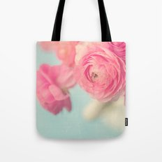 Cotton Candy, Pink Ranunculus Tote Bag