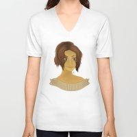 shingeki no kyojin V-neck T-shirts featuring Hanji Zoe - Shingeki no Kyojin by Artsy Anna