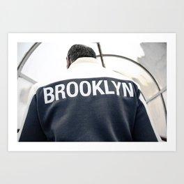Brooklyn man in downtown New York City - NYC Street Photography Art Print