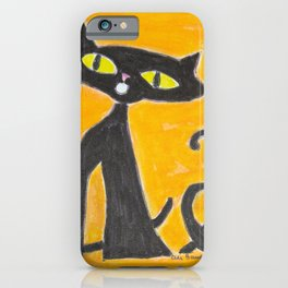 Black Cats and a Butterfly iPhone Case