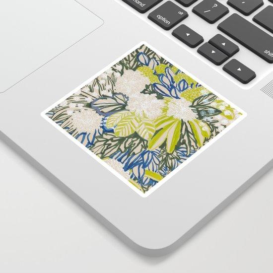 White chrysanthemums -ink floral by elenablanco