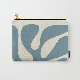 Abstract Monstera Leaf 10. Teal Carry-All Pouch