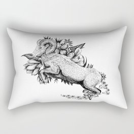 Goat  - Go Vegan Rectangular Pillow