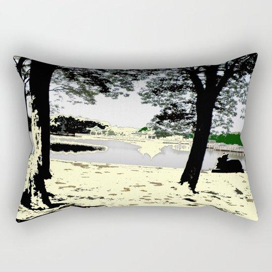 A Pleasant Day Rectangular Pillow