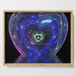 Magic Blue Heart Serving Tray