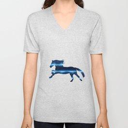 Blue Horse Unisex V-Neck