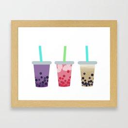 Bubble Tea Trio Framed Art Print