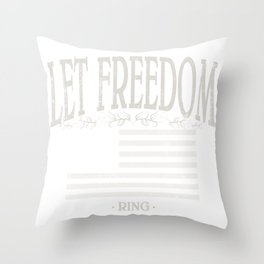 Let Freedom Ring | American Conservatism | liberty - Vintage Throw Pillow