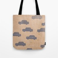 car Tote Bags featuring Car by sinonelineman