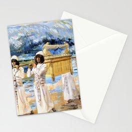 12,000pixel-500dpi - James Tissot - The Ark Passes Over the Jordan - Digital Remastered Edition Stationery Cards
