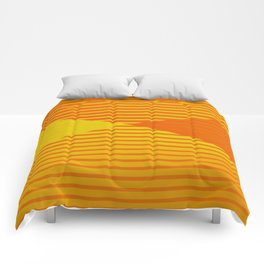 Yellow stripes and balls ... Comforters