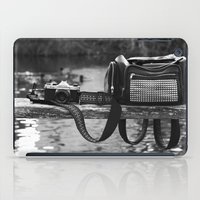 backpack iPad Cases featuring Camera and Backpack  by Giulia Photos