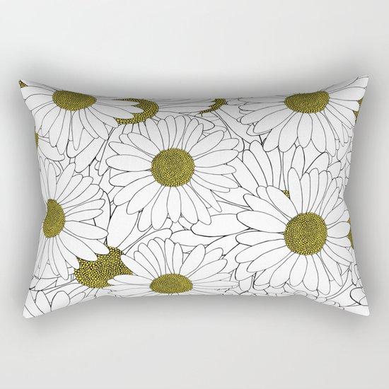Daisy Yellow Rectangular Pillow