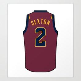 Collin Sexton Jersey Art Print
