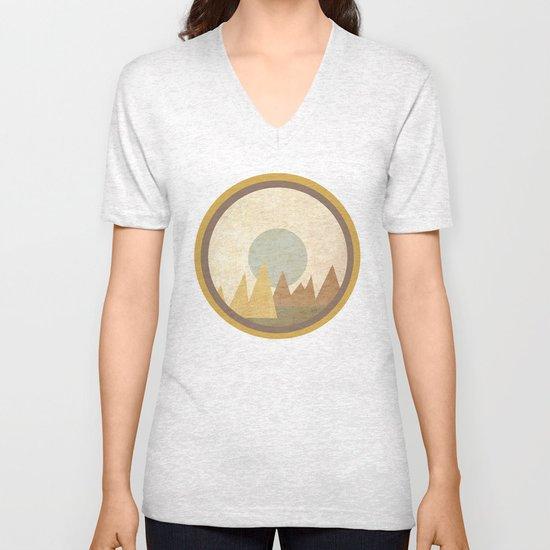 Moon & Mountains Unisex V-Neck