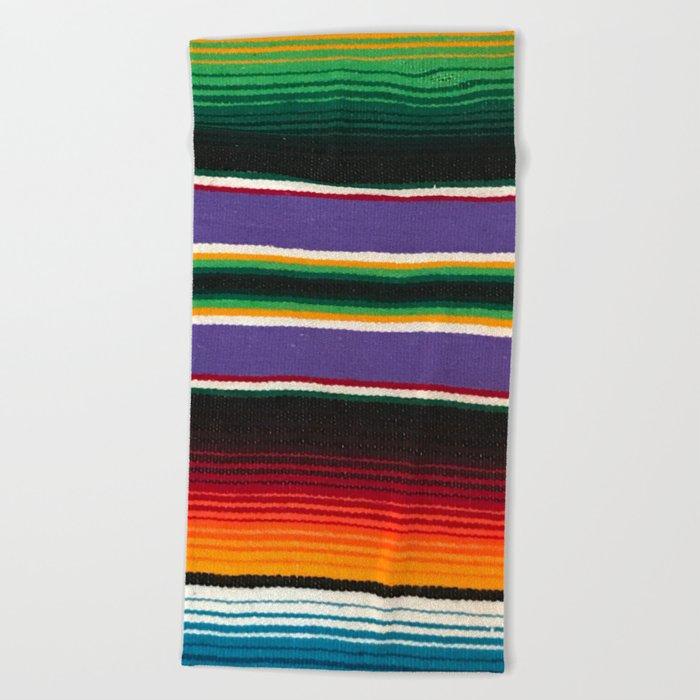 Mexican Serape Beach Towel