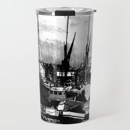 Boats At Sundown  Travel Mug