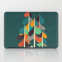 cabin iPad Cases featuring Cabin in the woods by Picomodi