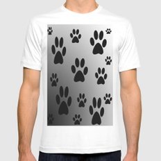 Cat Paws Mens Fitted Tee White SMALL